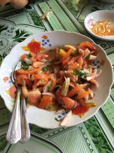 La salade de tomates !