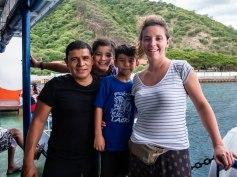 Ferry allant dans les îles Toggian, Sulawesi, Indonésie